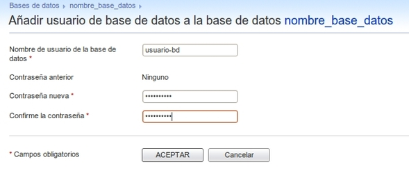 usuario base datos